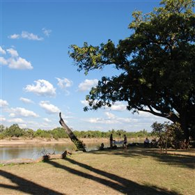 Afternoon tea and sundowners are often taken on the banks of the Luangwa River...
