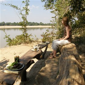 Enjoy a picnic lunch overlooking Luangwa River...