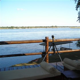 ... offering great views over the Zambezi River and Mana Pools National Park.