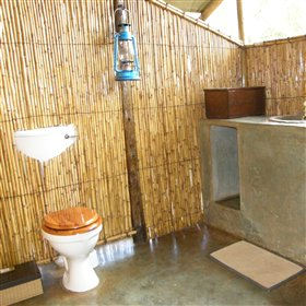 You have your own en-suite bathroom, with a flushing toilet...