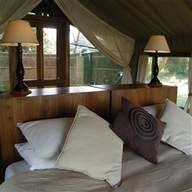 The camp also has two stylish suites - Albida and Cassia...