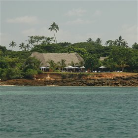 In fact, Fumba beach lodge sits on a low coral cliff