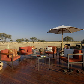There's a spacious deck, popular for sundowners...