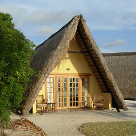 They are thatched and an A-frame design.