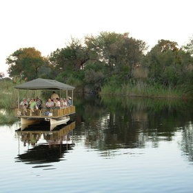 a tranquil cruise along the Kwando River is an excellent way to explore the area.