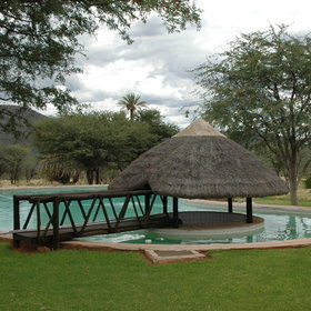 The pool provides a great opportunity to relax within nature