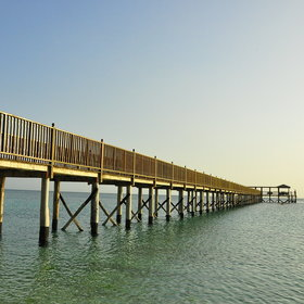 The jetty serves sundowners in the evening...