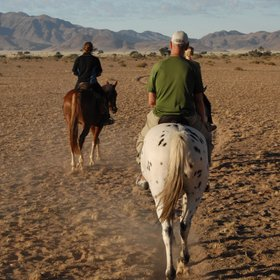 Sossus dune lodge offers horseriding trips...