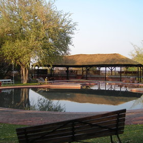 Waterberg Camp is situated at the base of the cliff of the Waterberg Plateau.