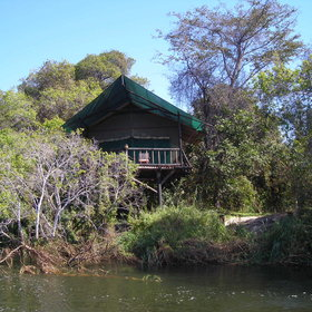 Relax in the comfort of your tent overlooking the Zambezi
