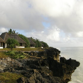 All of the bungalows at Matemwe sit on a coral cliff, immediately above the beach.
