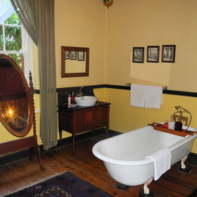 Each room has a large bathroom with Victorian baths...