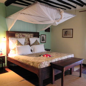 Each room has a large sturdy wooden bed and a home from home feel.