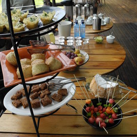 ...and high tea served before the afternoon activity.