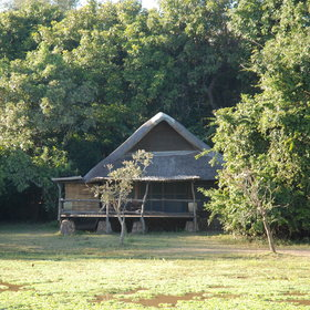 Mfuwe Lodge lies in the Southern Luangwa National Park.
