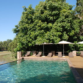 When not game viewing, guests have the option to relax by the pool...