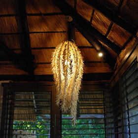 ... and each chalet is thoughtfully decorated with traditional African materials and designs.