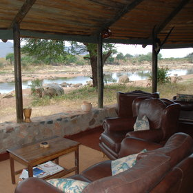 ... on the banks of the Ruaha River.