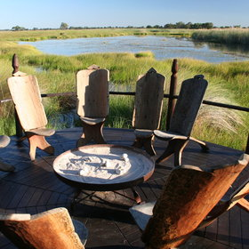 ...in a beautiful area of the Okavango Delta