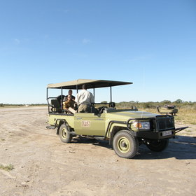 Game drives are in open 4x4 vehicles accompanied by a guide and tracker.
