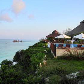 The lodge is set on the top of a coral cliff offering magnificent views across the Indian ocean.