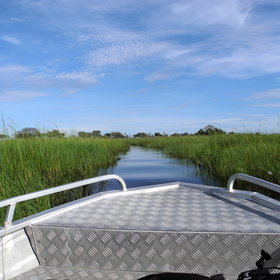 Go on a boat trip through the great open floodplains of Jao Flats.