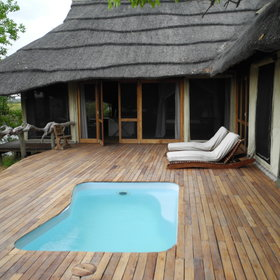 Each room has its own private deck and plunge pool, which also overlooks the lagoon.