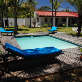 ...or you can also sunbath at the lodges 2nd smaller pool.