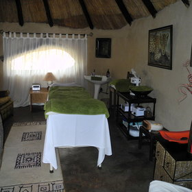 The camp has a spa area where you can enjoy a massage.