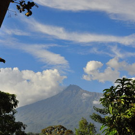 ...and on clear days you can even see the peak of Mount Meru.