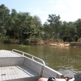 Activities at Sausage Tree Camp focus on boat trips...