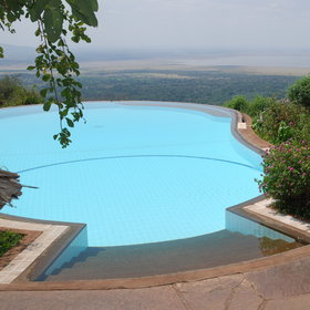 ...the view over Lake Manyara National Park is really quite spectacular.