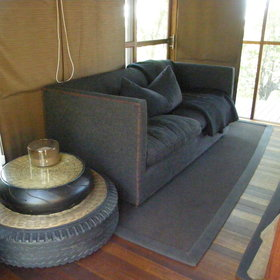 ...an indoor sitting area...