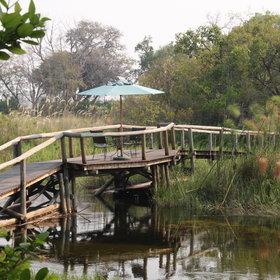Xigera Camp is a little piece of paradise in the Okavangos wetlands.