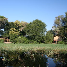 Seba Camp overlooks a lovely permanent lagoon.