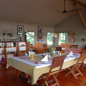...and the open-sided dining room is a lovely spot where you will enjoy excellent meals.