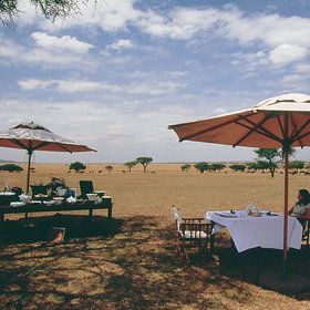 Sabora Tented Camp, in the Grumeti Reserve, is a very stylish Serengeti safari camp.