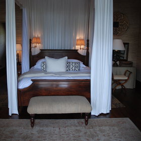 Like the rest of the lodge, furnishings and fittings in the bedrooms are very high quality.