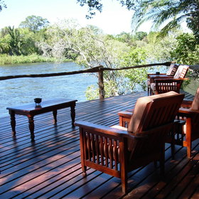A peaceful oasis tucked away on the banks of the Zambezi River.