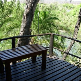 Each tent overlooks the Chobe river and your deck is a great place to watch the birdlife from.