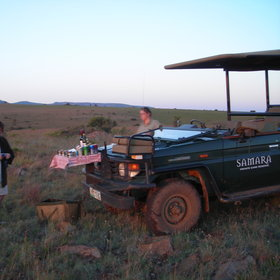 Activities at Samara include walking and game drives in open 4 wheel drive vehicles.