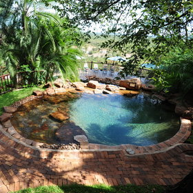 Cool off from the day's heat in the plunge pool...