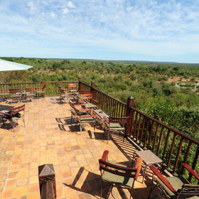 The Victoria Falls Safari Lodge offers great view over the Zambezi National Park...