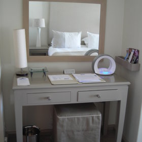 All the rooms are decorated in soft beige and white tones and have ipod docking stations.