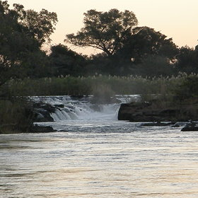 ... along the Okavango River.