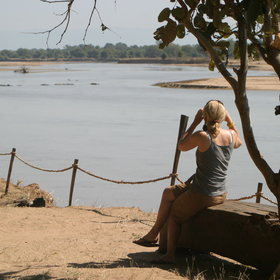 Island Bush Camp offers great views over the Luangwa River.