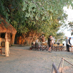 It is sociable around the campfire at Island Bush Camp.