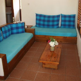 ...and an open-plan lounge area, big enough to accommodate two children's beds.