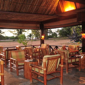 The main lodge houses a bar, a lounge and a restaurant...