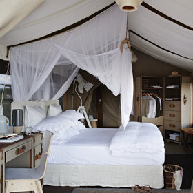 Singita Mara River Tented Camp offers six luxurious tents...